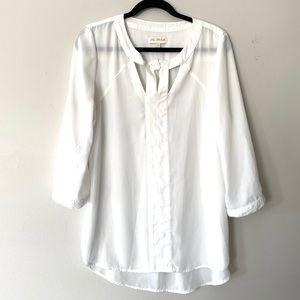 My Michelle white chiffon blouse - large